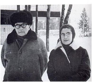 Shostakovich con su esposa Irina